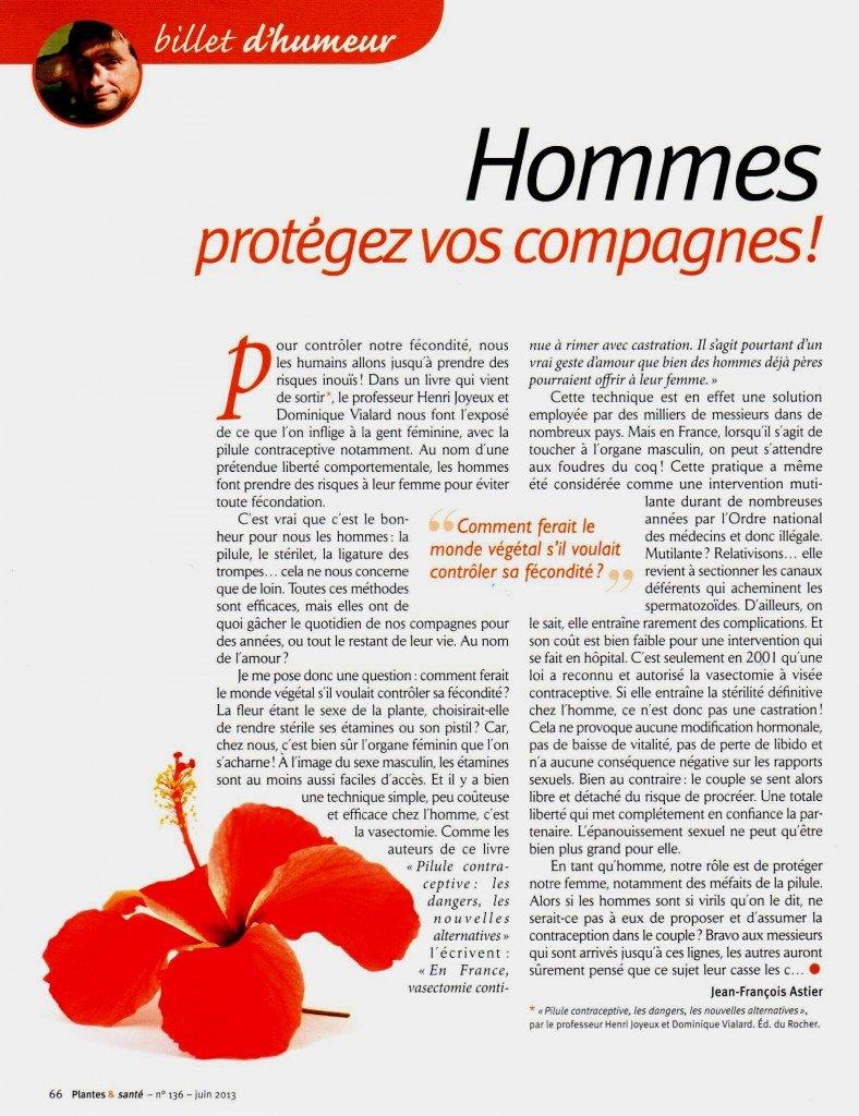 Un article de santé qui parle de la vasectomie dans chirurgie contraceptive scan2